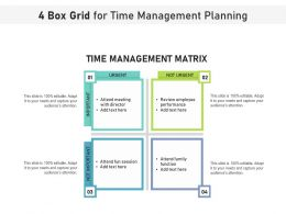 4 Box Grid For Time Management Planning