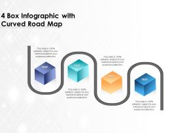 4 Box Infographic With Curved Road Map