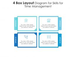 4 Box Layout Diagram For Skills For Time Management Infographic Template