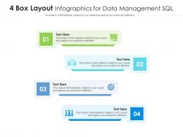 4 Box Layout For Data Management SQL Infographic Template