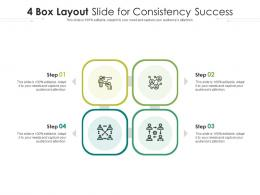 4 Box Layout Slide For Consistency Success Infographic Template