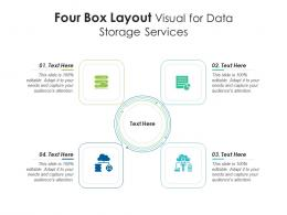 4 Box Layout Visual For Data Storage Services Infographic Template