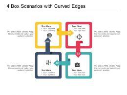 4 Box Scenarios With Curved Edges