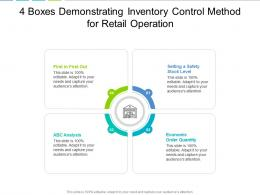 4 Boxes Demonstrating Inventory Control Method For Retail Operation