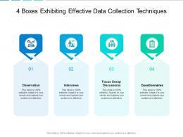 4 Boxes Exhibiting Effective Data Collection Techniques