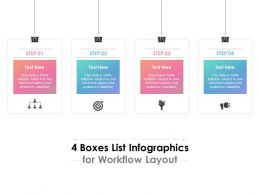 4 Boxes List Infographics For Workflow Layout