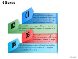 4 Boxes Powerpoint Template Slide