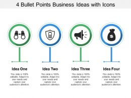 4 Bullet Points Business Ideas With Icons