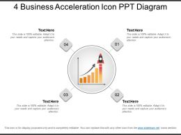 4 Business Acceleration Icon Ppt Diagram