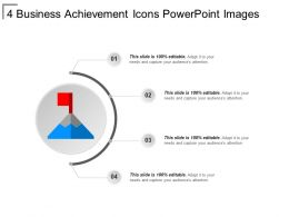 4 Business Achievement Icons Powerpoint Images