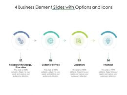 4 Business Element Slides With Options And Icons