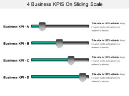 4 Business Kpis On Sliding Scale Ppt Examples Professional