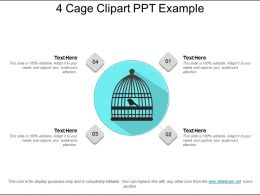 4 Cage Clipart Ppt Example