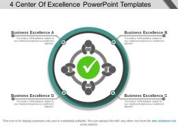 4 Center Of Excellence Powerpoint Templates