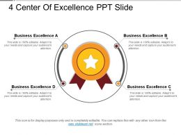 4 Center Of Excellence Ppt Slide