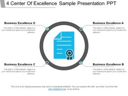 4 Center Of Excellence Sample Presentation Ppt