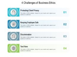4 Challenges Of Business Ethics