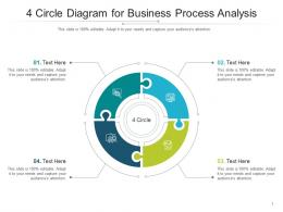4 Circle Diagram For Business Process Analysis Infographic Template