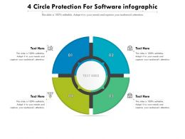 4 Circle Protection For Software Infographic