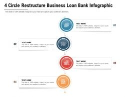4 Circle Restructure Business Loan Bank Infographic