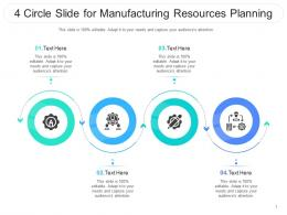 4 Circle Slide For Manufacturing Resources Planning Infographic Template