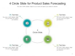 4 Circle Slide For Product Sales Forecasting Infographic Template