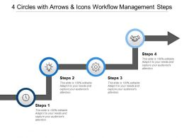 4 Circles With Arrows And Icons Workflow Management Steps