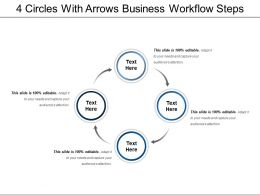 4 Circles With Arrows Business Workflow Steps