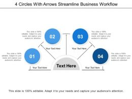 4 Circles With Arrows Streamline Business Workflow
