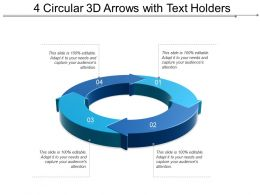 4 Circular 3d Arrows With Text Holders