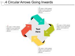 4 Circular Arrows Going Inwards
