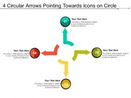 4 Circular Arrows Pointing Towards Icons On Circle