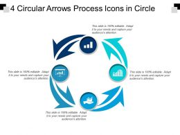 4 Circular Arrows Process Icons In Circle