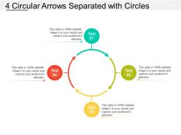 4 Circular Arrows Separated With Circles