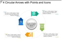 4 Circular Arrows With Points And Icons
