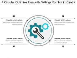 4 Circular Optimize Icon With Settings Symbol In Centre