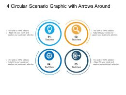 4 Circular Scenario Graphic With Arrows Around
