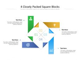 4 Closely Packed Square Blocks