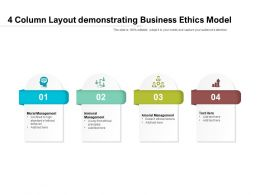 4 Column Layout Demonstrating Business Ethics Model