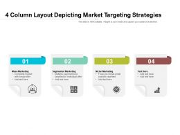 4 Column Layout Depicting Market Targeting Strategies