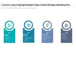 4 Column Layout Highlighting Major Steps To Build Strategic Marketing Plan