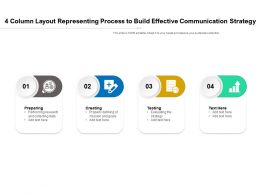 4 Column Layout Representing Process To Build Effective Communication Strategy