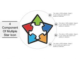 4 Component Of Multiple Star Icon Powerpoint Ideas