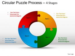 4 Components Circular Puzzle Process Powerpoint Slides And ppt Templates 0412
