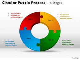 4 Components diagram Circular Puzzle Process 8