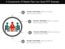 4 Components Of Master Plan Icon Good Ppt Example