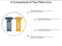 4 Components Of Two Pillars Icon Powerpoint Show