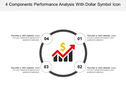 4 Components Performance Analysis With Dollar Symbol Icon