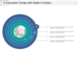 4 Concentric Circles With Globe In Centre