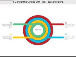 4 Concentric Circles With Text Tags And Icons